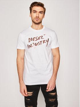 Diesel Diesel T-shirt Diego 00SEFX 0GAYD Blanc Regular Fit
