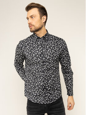MICHAEL Michael Kors MICHAEL Michael Kors Košulja Abstract Floral Stretch CR94CK87UU Crna Slim Fit