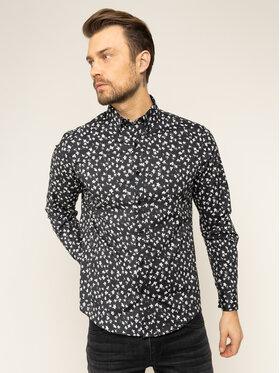 MICHAEL Michael Kors MICHAEL Michael Kors Marškiniai Abstract Floral Stretch CR94CK87UU Juoda Slim Fit
