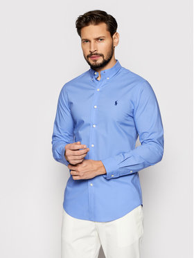 Polo Ralph Lauren Polo Ralph Lauren Marškiniai Slbdppcs 710812198005 Mėlyna Slim Fit
