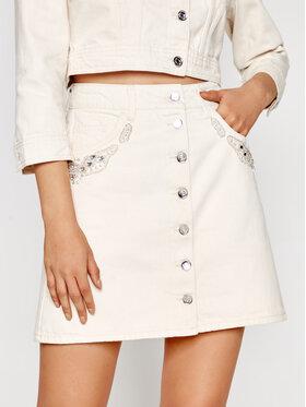Liu Jo Liu Jo Jeans suknja WA1278 T4760 Bež Regular Fit