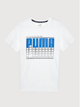 Puma Puma T-Shirt Active Sport Graphic 581173 Biały Regular Fit