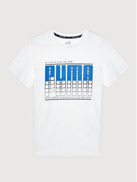 Puma Puma T-Shirt Active Sport Graphic 581173 Bílá Regular Fit