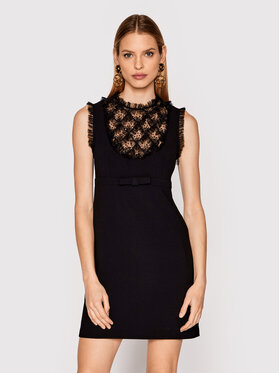 Elisabetta Franchi Elisabetta Franchi Коктейлна рокля AB-114-13E2-V380 Черен Slim Fit