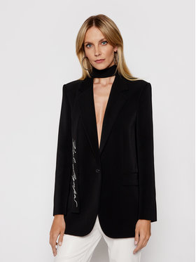 KARL LAGERFELD KARL LAGERFELD Μπλέιζερ Tailored 211W1405 Μαύρο Straight Fit