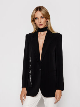 KARL LAGERFELD KARL LAGERFELD Σακάκι Tailored 211W1405 Μαύρο Straight Fit
