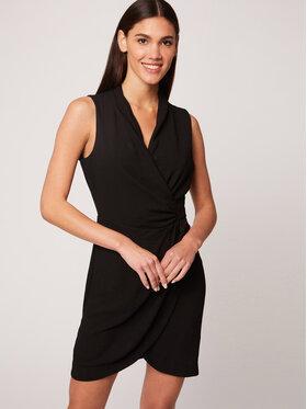 Morgan Morgan Koktejlové šaty 212-RENALA.F Čierna Slim Fit