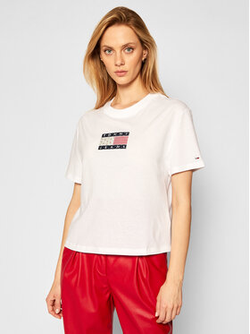 Tommy Jeans Tommy Jeans T-Shirt DW0DW08482 Bílá Regular Fit