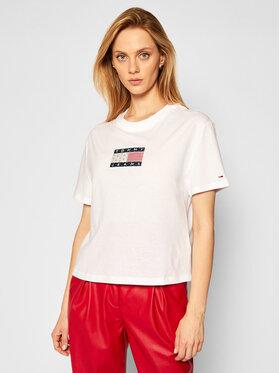 Tommy Jeans Tommy Jeans T-Shirt DW0DW08482 Λευκό Regular Fit