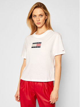 Tommy Jeans Tommy Jeans Тишърт DW0DW08482 Бял Regular Fit