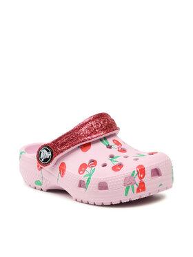 Crocs Crocs Mules / sandales de bain Classic Food Print Clog K 207150 Rose