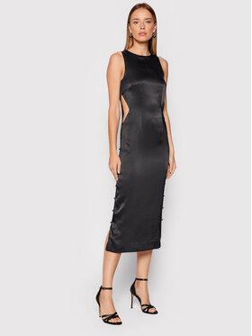 ROTATE ROTATE Коктейлна рокля Dulcie RT333 Черен Slim Fit