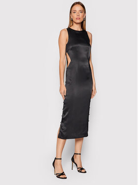 ROTATE ROTATE Sukienka koktajlowa Dulcie RT333 Czarny Slim Fit