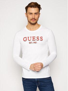 Guess Guess Тениска с дълъг ръкав M0BI68 I3Z00 Бял Slim Fit