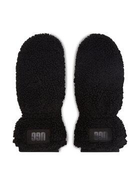 Ugg Ugg Жіночі рукавички W Sherpa Mitten w Logo Patch 20168 Чорний