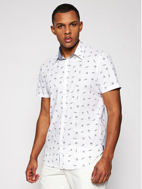 Guess Guess Marškiniai M1GH21 W8BX1 Balta Slim Fit