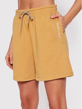 PLNY LALA PLNY LALA Sportske kratke hlače Shorty PL-SI-SH-00005 Smeđa Loose Fit