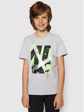 4F 4F T-shirt HJL21-JTSM002A Grigio Regular Fit