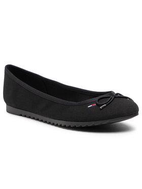 Tommy Jeans Tommy Jeans Balerinos Essential Tommy Jeans Ballerina EN0EN01284 Juoda