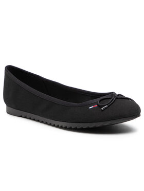 Tommy Jeans Tommy Jeans Ballerinas Essential Tommy Jeans Ballerina EN0EN01284 Schwarz
