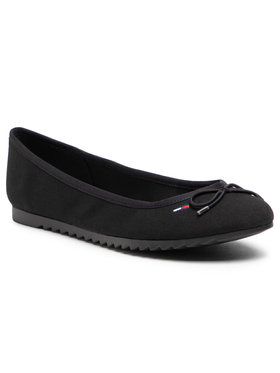 Tommy Jeans Tommy Jeans Ballerines Essential Tommy Jeans Ballerina EN0EN01284 Noir
