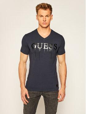 Guess Guess T-Shirt Overflow Tee M64I15 J1300 Tmavomodrá Slim Fit