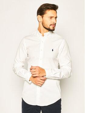 Polo Ralph Lauren Polo Ralph Lauren Риза Classics 710794604 Бял Slim Fit