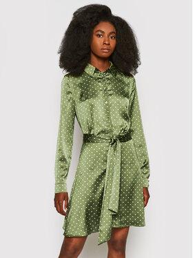 Guess Guess Košilové šaty Agata W1YK0X WD8G0 Zelená Regular Fit