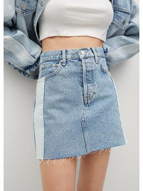 Mango Mango Spódnica jeansowa Grace 87089059 Niebieski Regular Fit