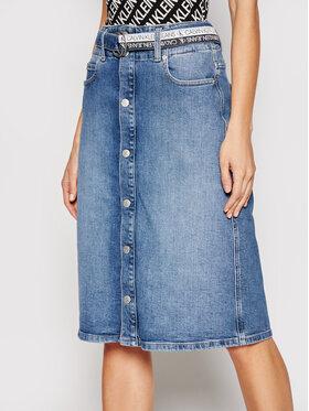 Calvin Klein Jeans Calvin Klein Jeans Džinsinis sijonas J20J215436 Mėlyna Regular Fit