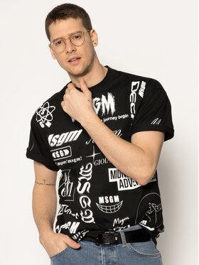 MSGM MSGM Marškinėliai 2840MM101 207098 Juoda Regular Fit