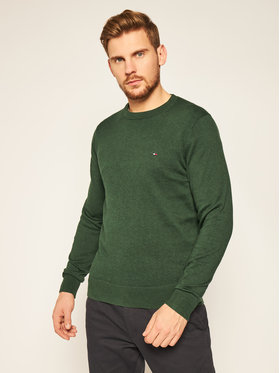 TOMMY HILFIGER TOMMY HILFIGER Sweater Blend MW0MW15431 Zöld Regular Fit