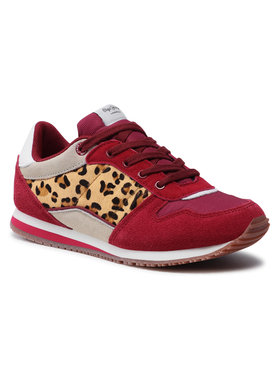 Pepe Jeans Pepe Jeans Sneakersy Sydney Basic Girl PGS30232 Bordová