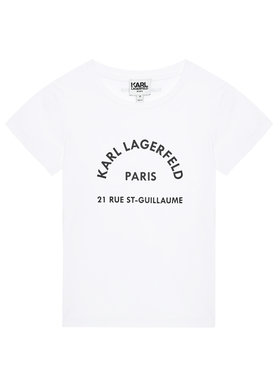 KARL LAGERFELD KARL LAGERFELD T-shirt Z25272 D Blanc Regular Fit