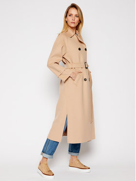 Weekend Max Mara Weekend Max Mara Manteau en laine Potente 50110217 Beige Regular Fit
