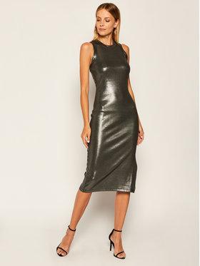 Guess Guess Коктейлна рокля Lupita W0YK81 K9VN0 Сребрист Slim Fit