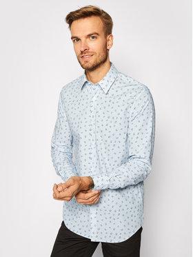 Guess Guess Koszula M0BH20 W8BX1 Niebieski Slim Fit
