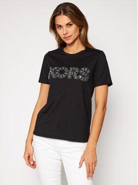 MICHAEL Michael Kors MICHAEL Michael Kors T-Shirt Studded Logo MF05MSU97J Černá Regular Fit