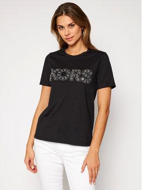 MICHAEL Michael Kors MICHAEL Michael Kors T-shirt Studded Logo MF05MSU97J Crna Regular Fit