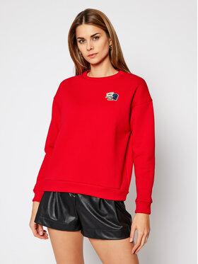Lacoste Lacoste Bluza SF6501 Czerwony Regular Fit