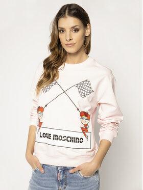 LOVE MOSCHINO LOVE MOSCHINO Bluza W630630E 2124 Różowy Regular Fit