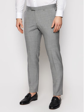Oscar Jacobson Oscar Jacobson Spodnie garniturowe Damien 537 8515 Szary Slim Fit