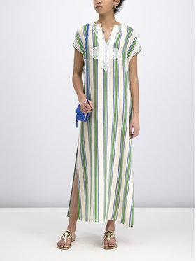 Tory Burch Tory Burch Sukienka letnia Striped Caftan 57114 Zielony Regular Fit