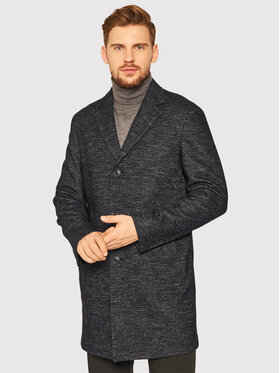 Oscar Jacobson Oscar Jacobson Vlnený kabát Santiago 7103 5279 Čierna Regular Fit