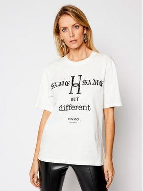 Pinko Pinko Marškinėliai UNIQUENESS Locatelli 20211 UNQS 1Q108F Y6Z7 Balta Regular Fit