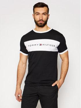 Tommy Hilfiger Tommy Hilfiger T-Shirt Logo Flag UM0UM01170 Czarny Regular Fit