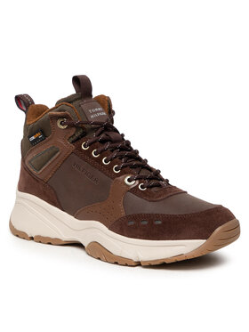 Tommy Hilfiger Tommy Hilfiger Sneakersy High Sneaker Boot Leather FM0FM03273 Brązowy