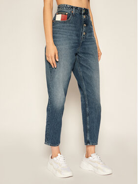 Tommy Jeans Tommy Jeans Blugi Mom Fit DW0DW08650 Bleumarin Mom Fit