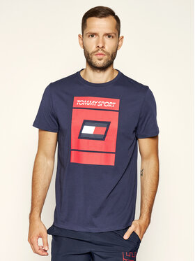 Tommy Sport Tommy Sport Tričko Graphic S20S200193 Tmavomodrá Regular Fit