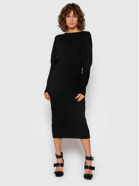TWINSET TWINSET Sukienka dzianinowa 212TT3094 Czarny Regular Fit